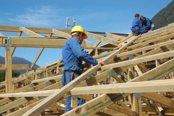 costruzione di tettoia in legno
