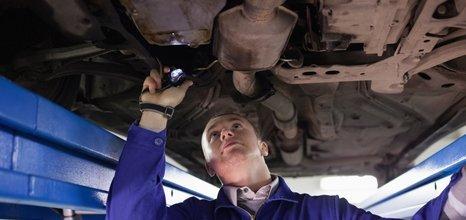 car being serviced