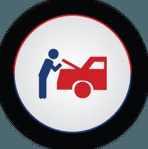 graphic of car mechanic repairing