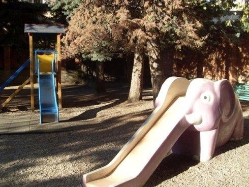 Lo scivolo a forma di elefante