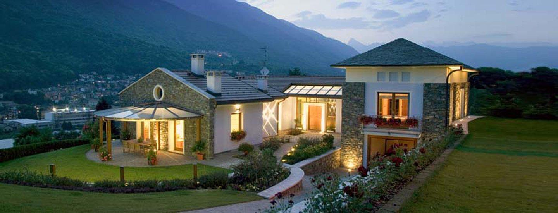 villa con giardino