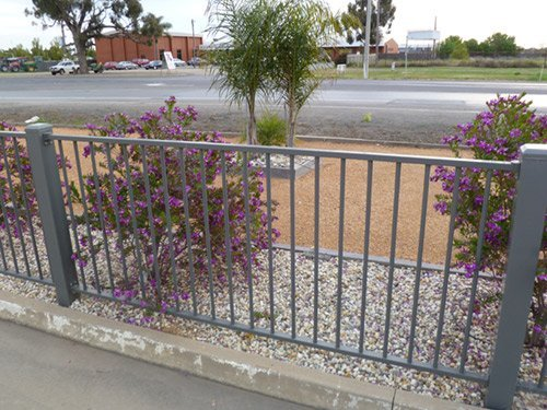 grey iron fence