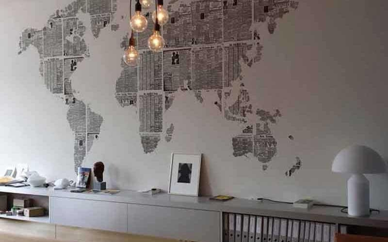 carta da parati cartina geografica