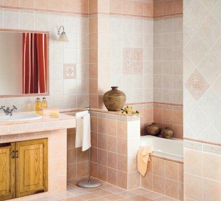 ceramiche bagno rosa