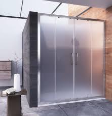 doppia porta scorrevole per doccia a nicchia vetro