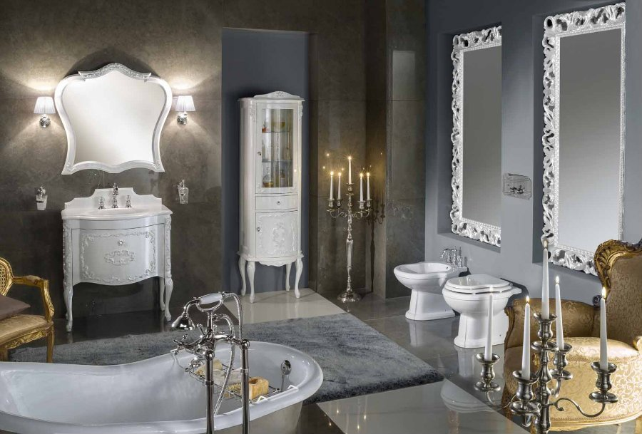 mobili da bagno bianco