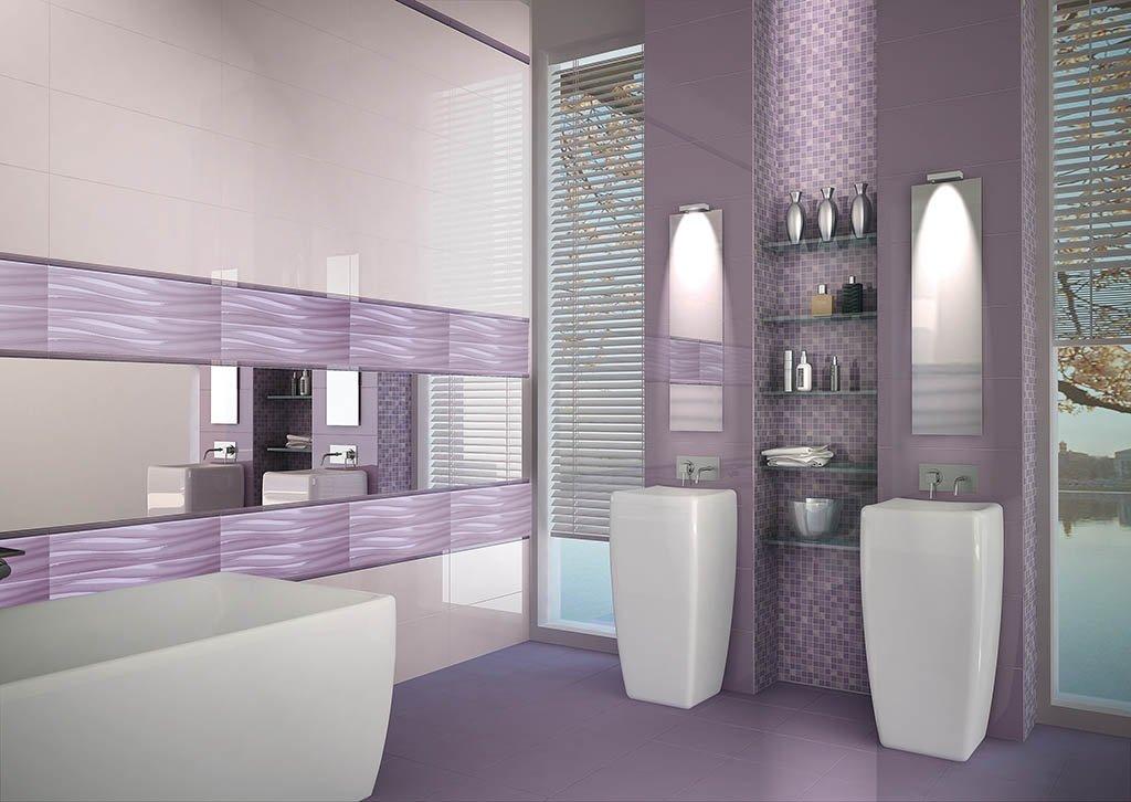 piastrelle e rivestimenti su parete e pavimento con arredamento