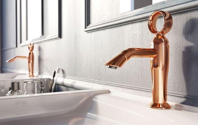 lavabo con rubinetto per bagno moderno