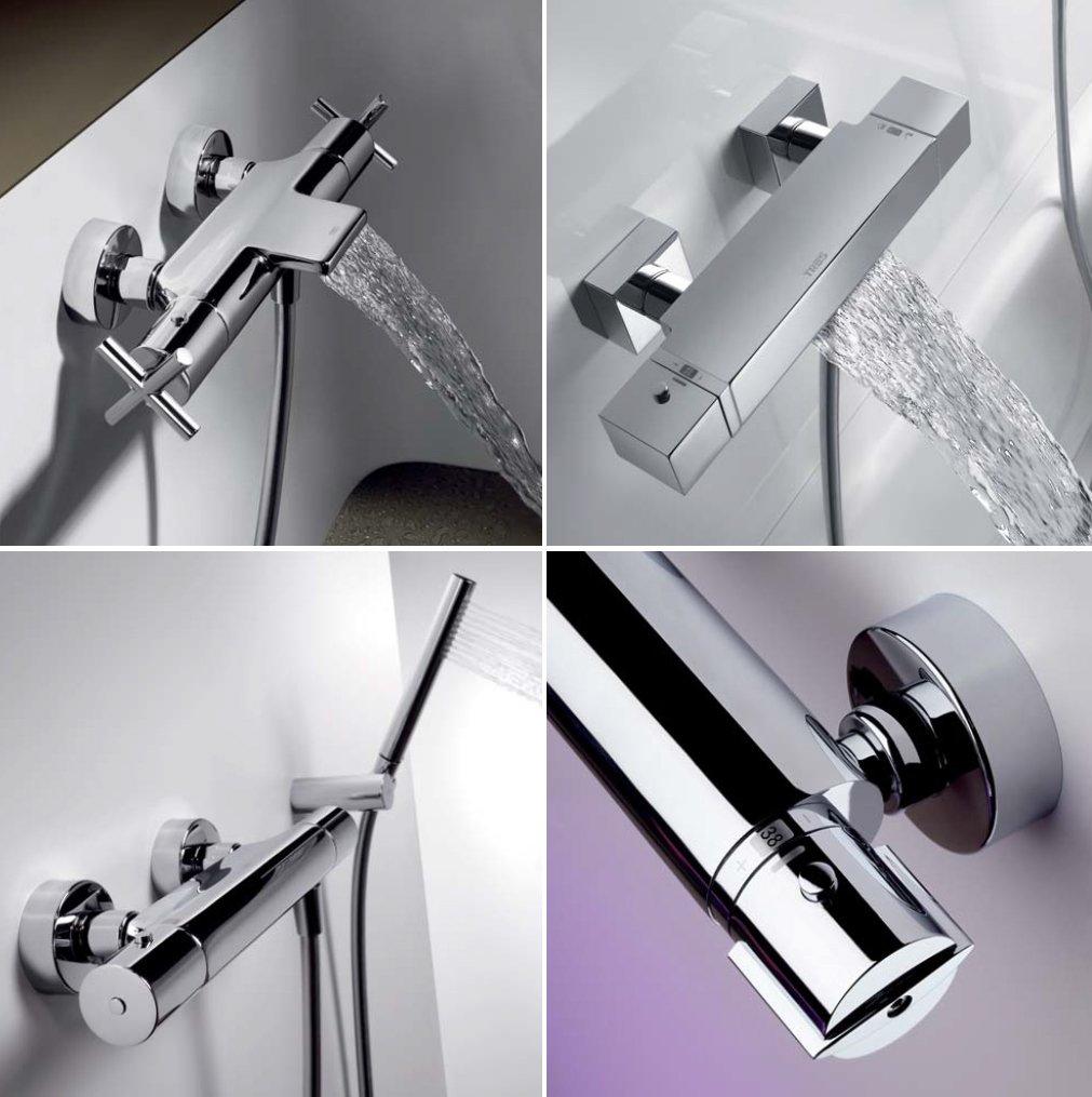 rubinetti moderni scorre acqua