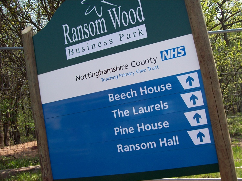Ransom Wood resort signs