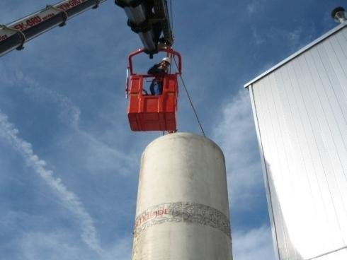 piattaforma aerea su silos