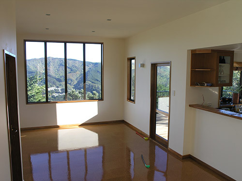 Interior of newly constructed living space