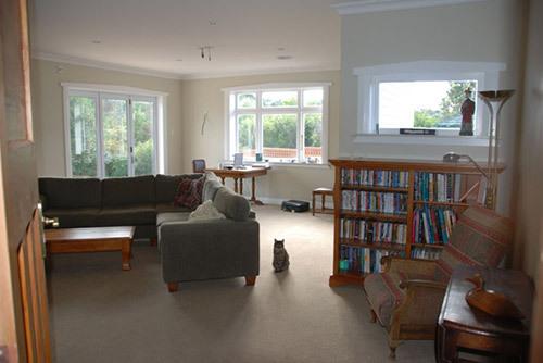 Interior of living room after renovation