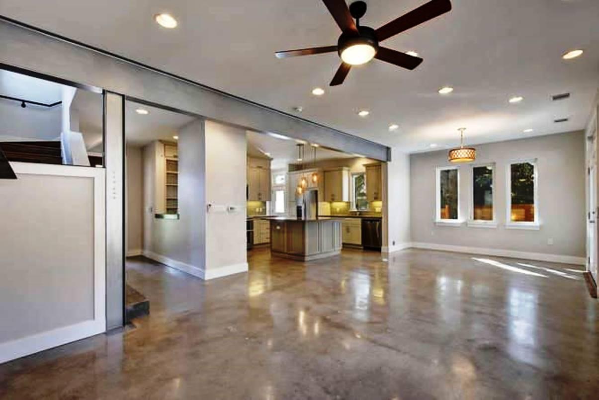 Epoxy Floors in Kitchen & Family Room