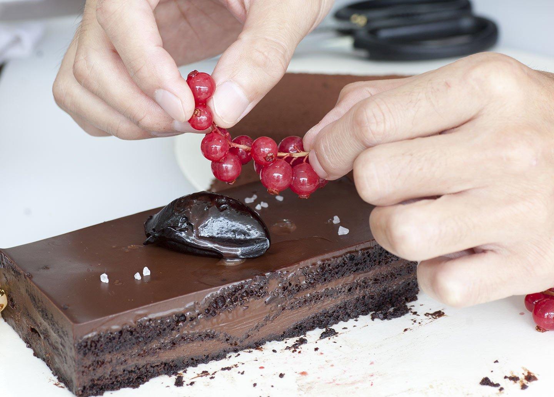 torta con le more e cioccolato