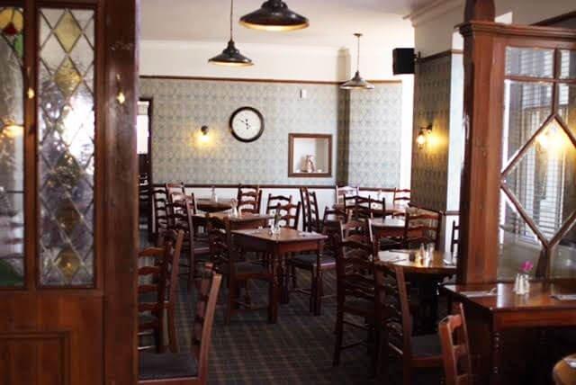 yellowish lighting in  The Hollybank Restaurant