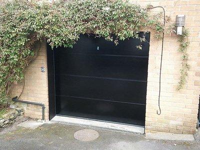 A new sectional garage door