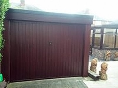 A new up and over garage door