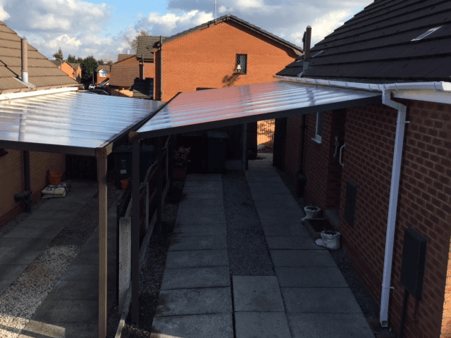 A new up and over garage door and frontage