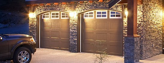 Matching sectional garage doors