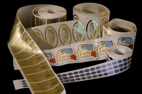 bobine etichette, stampa etichette adesive, etichette adesive colorate