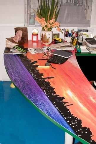 adesivi colorati scrivania, scrivanie personalizzate, adesivi per scrivanie