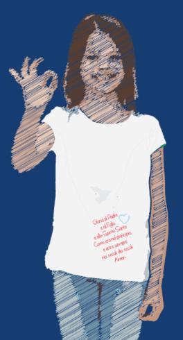 maglietta donna con preghiera