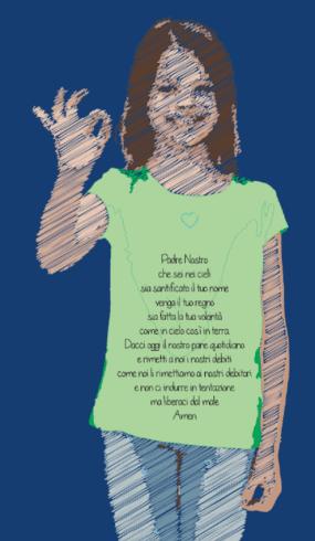 maglia donna con preghiera