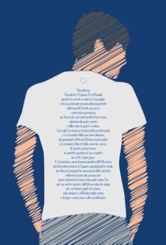 maglietta Benedictus, maglia con preghiera stampata
