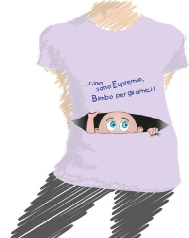 t-shirt personalizzata, t-shirt gravidanza