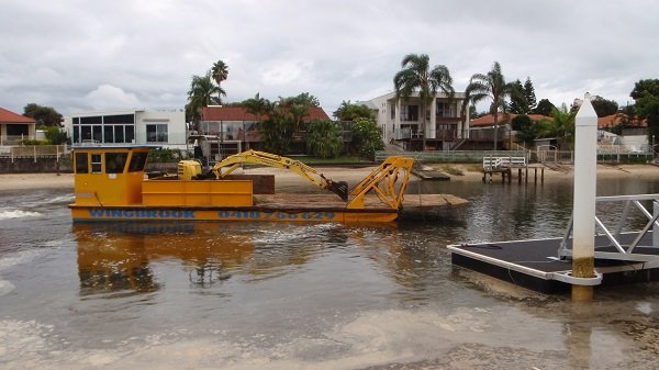 One of our rental barges on the Gold Coast