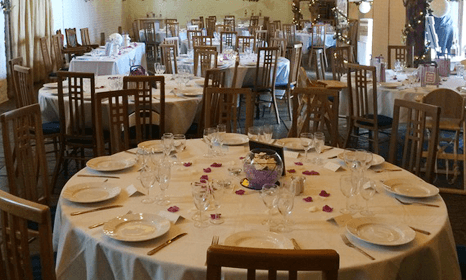 dinner table arranged