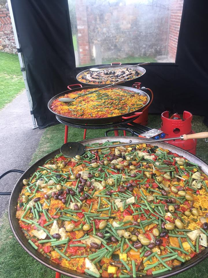 freshly prepared food for an event