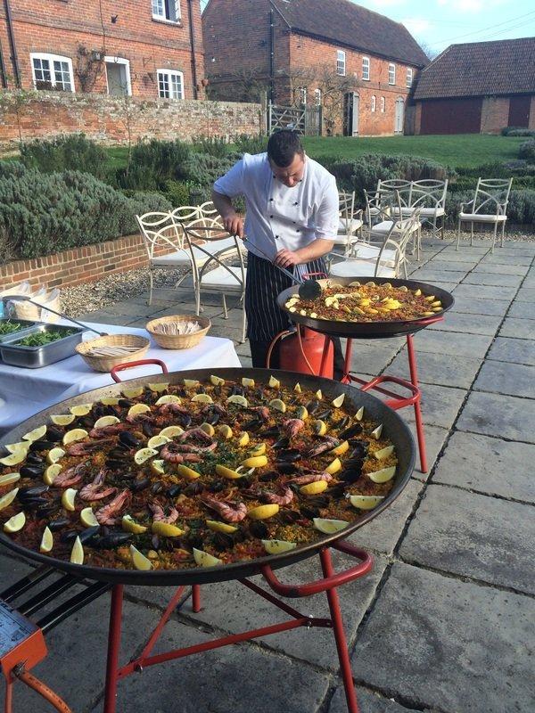 fresh food being prepared