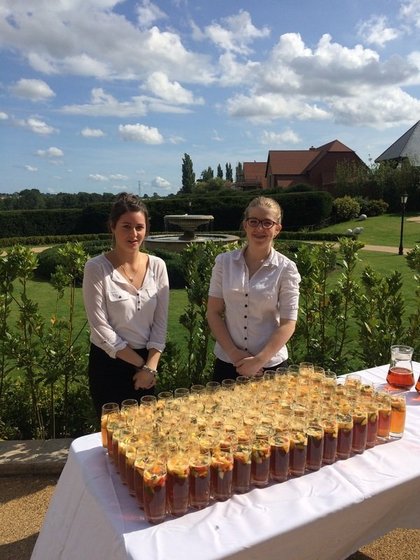 catering team members at an event