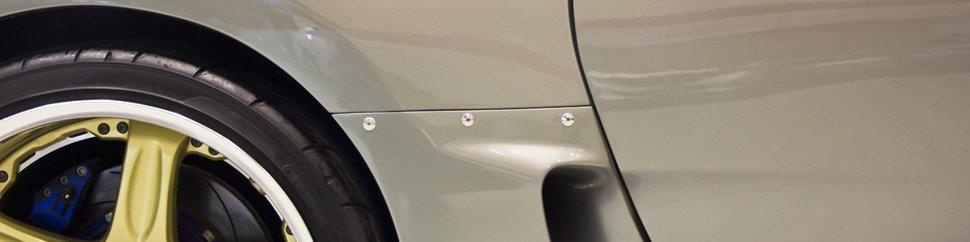 Close up of a car body