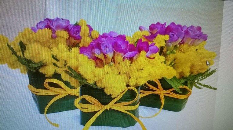 composizione fiori per regalo