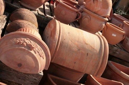 magazzino vasi in terracotta