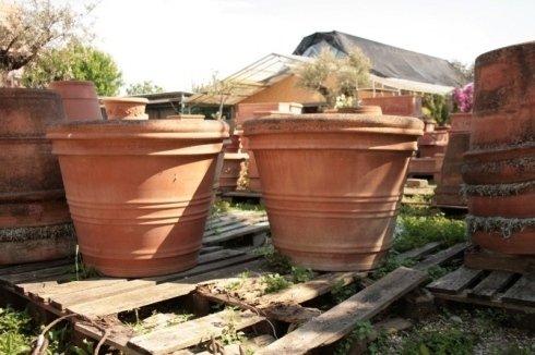 due vasi in terracotta