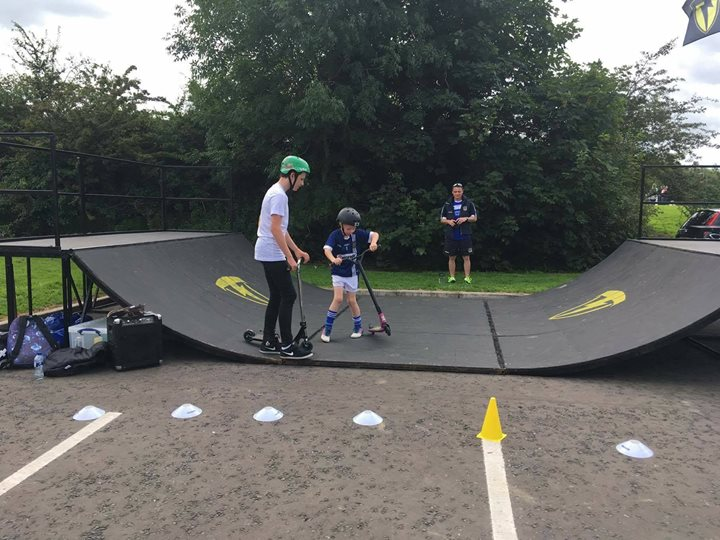 Half pipe for hire - scooter coaching