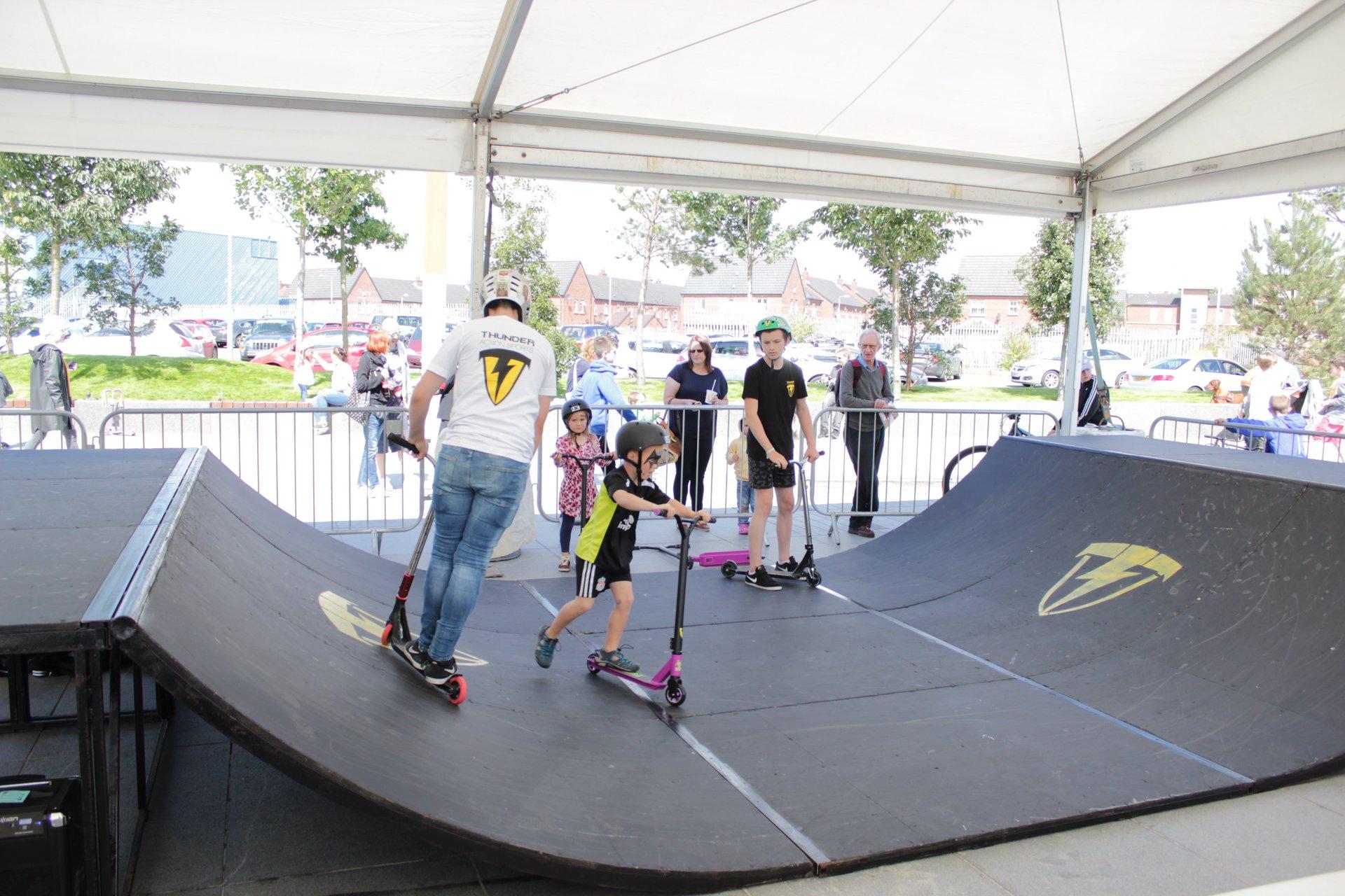 Scooter coaching Birthday - cs lewis square Belfast