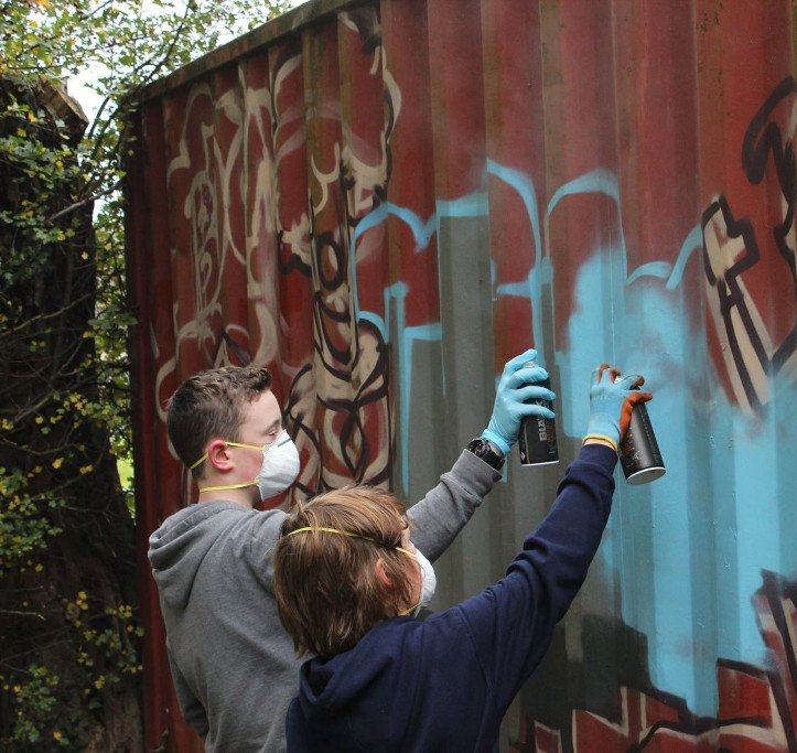 Graffiti art workshops Belfast