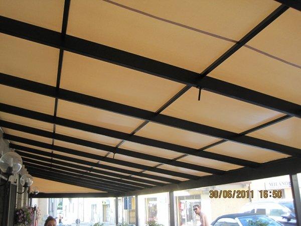 struttura fissa tenda sole in pvc