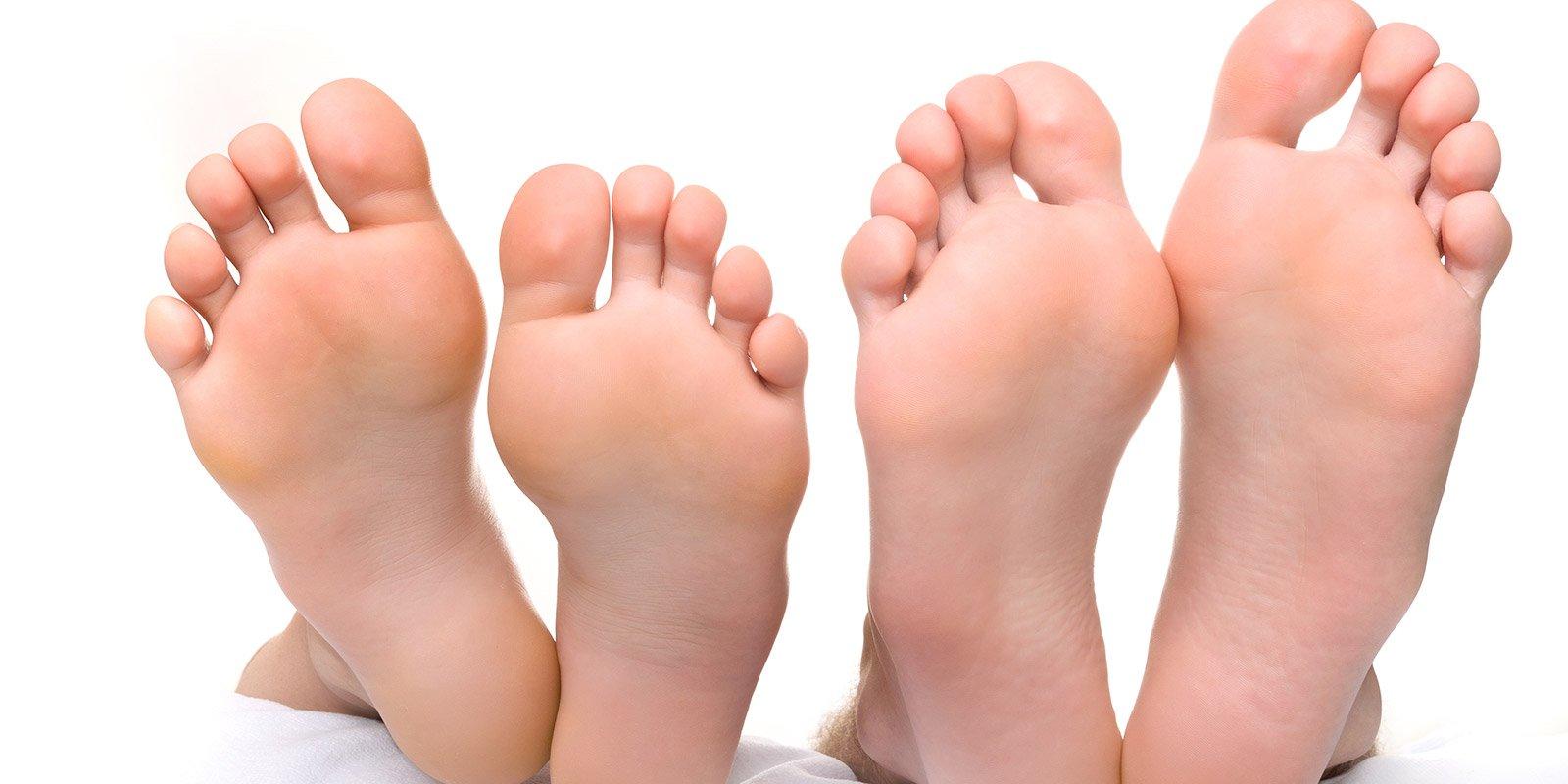 Piante di piedi sani