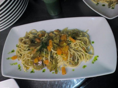 spaghetti con zucca