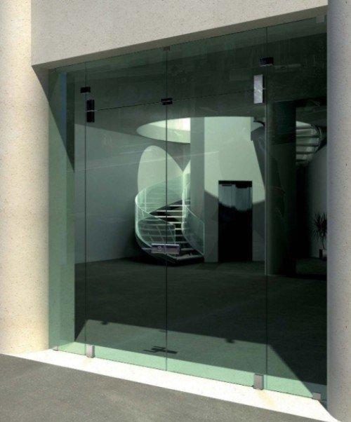 porte di ingresso in vetro