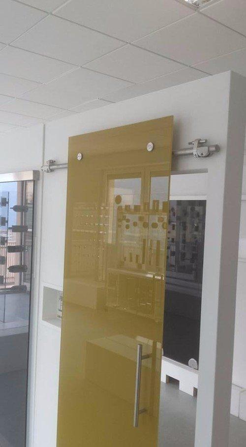 divisorio in vetro color oro