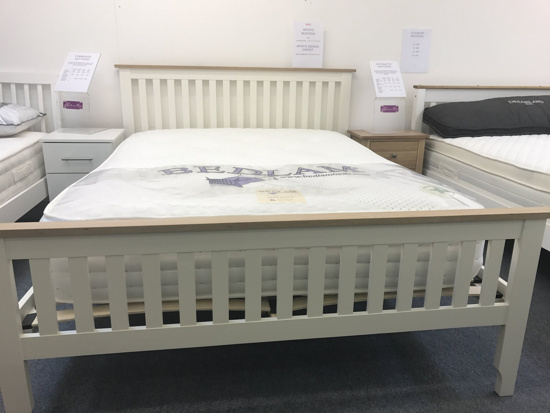 Solid pine double bed - SALE! Was £405, now £299.99