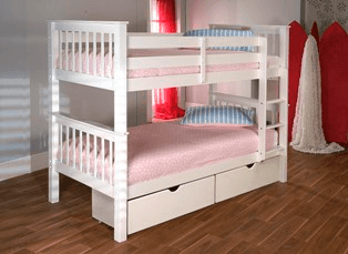 Lisbon Bunk Bed White