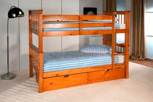 Lisbon Bunk Bed Natural Pine
